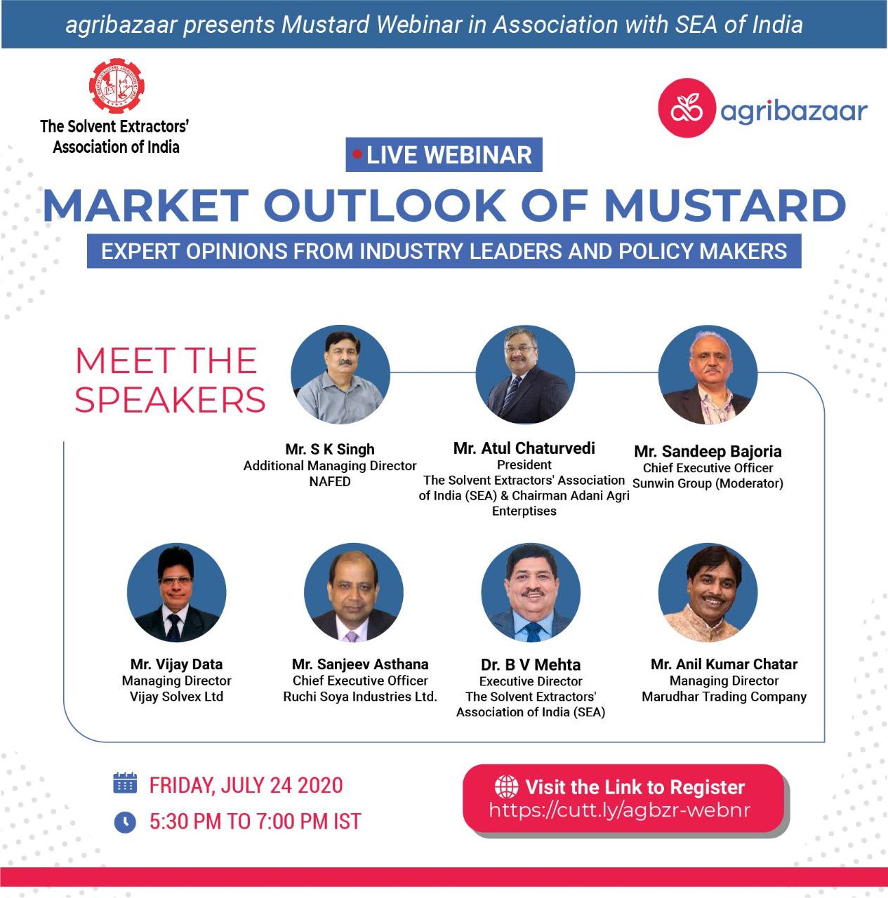 """Live Webinar on """"Market Outlook of Mustard Seed"""" on July 24, 2020"""